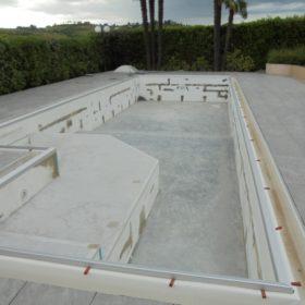 Stuccatura piscina pre posa telo