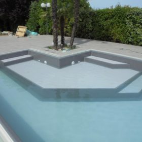 Riempimento piscina - Focus zona relax