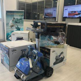 Showroom Zavatti Piscine a Sfioro - Robot piscina Dolphin Maytronics Serie S e Serie M per professionisti