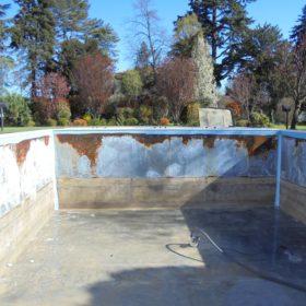 Panoramica pareti piscina senza rivestimento