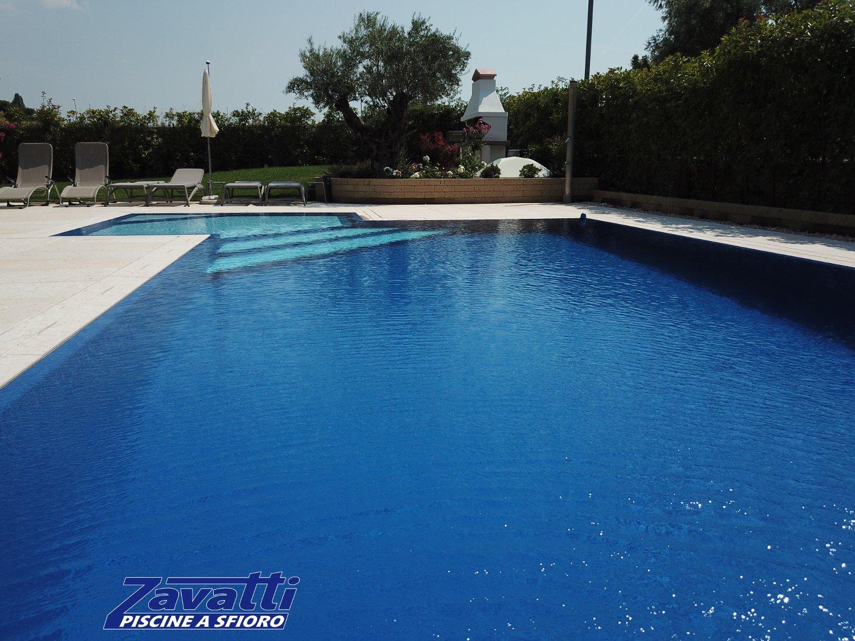 Increspature su specchio d'acqua di una piscina Zavatti